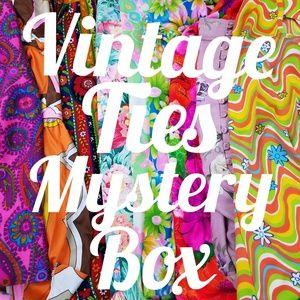 Vintage Men's Ties Mystery Box Dressy Funky Unique